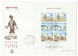 Monaco // FDC // 1979 // Europa 1979 (Bloc-feuillet) - FDC
