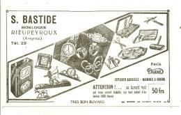 -BUVARD -   BASTIDE  Horloger à RIEUPEYROUX Explosifs Agricoles Machines à Coudre TTB - Produits Ménagers
