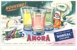 -BUVARD -   Moutarde Verres - AMORA Boréal Coloré -excellent état - Moutardes