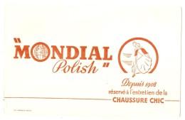 -BUVARD -   Cirage MONDIAL POLISH  Chassuure Chic  -excellent état - Produits Ménagers