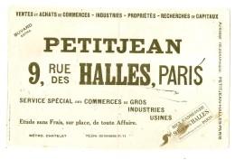 -BUVARD -  Agence Immobiliere PRTITJEAN 9 Rue Des Halles PARIS --- TB - - Blotters