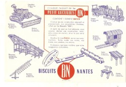 ---- BUVARD ---- - Petit Lucullus BN Biscuiterie Nantaise Jeux De Construction - Excellent état - Cake & Candy