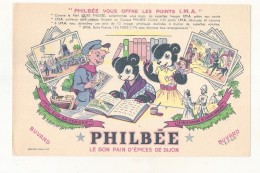 ---- BUVARD ----   PHILBEE  Le Bon Pain D'épices De Dijon  - Excellent état - Pain D'épices