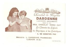 ---- BUVARD ----  Chocolat De Régime DARDENNE à Luchon -31 --  - Excellent état - Chocolat