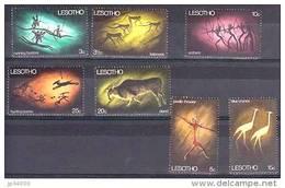 LESOTHO Gravures Rupestres, Hommes Prehistoriques,  CAVE PAINTING (yvert 162/68) ** MNH, Sans Charniere. - Préhistoire