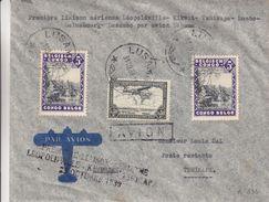 Congo Belge - Lettre De 1939 - Oblit Lusambo - 1er Vol Léopoldville Kikwit Tshikapa - 1923-44: Covers