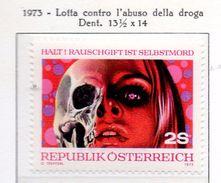 PIA - AUSTRIA -1973  : Lotta Contro La Droga -   (Yv  1239) - Droga