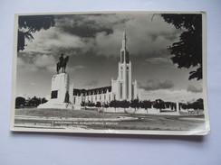 MOZAMBIQUE - Lourenco Marques - Mouzinho De Albuquerque Statue And Cathedral - Mozambique