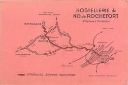 "CPSM FRANCE 30 ""Hostellerie De Notre Dame De Rochefort"" - Rochefort-du-Gard"