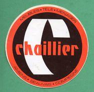 CHAILLIER MEUBLE TELE MENAGER AMIENS BEAUVAIS COMPIEGNE / AUTOCOLLANT - Autocollants
