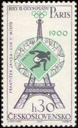 Czechoslovakia / Stamps (1965) 1429: Olympic Games 1900 Paris, F. Janda-Suk (discus Throw); Painter: Anna Podzemna - Summer 1900: Paris