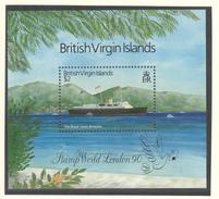 British Virgin Islands - London 1990 - XX - Michel Bl 60 - Cote 9.00 - Bateaux
