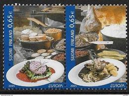 Finlande 2005 N°1715/1716 Neufs En Paire Horizontale 1716A . Europa Gastronomie - Nuovi