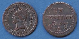 1798-1799  L'AN 7 Dupré  1 CENTIME  7 NORMAL CUIVRE  ATELIER PARIS  TB+ VOIR LE SCAN SVP - A. 1 Centime