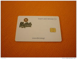 Greece Samos Doryssa Hotel Chip Room Key Card (Mythos Beer/vin/cerveza/bier) - Publicidad