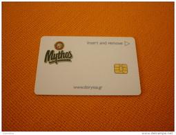 Greece Samos Doryssa Hotel Chip Room Key Card (Mythos Beer/vin/cerveza/bier) - Publicité