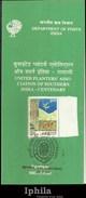 Scarce Stamped Folder UPASI Tea Coffee Plantation Planters Assoc. 1994 Ind Indien Inde Flora Blumen Fleur Flower Plants - Agriculture