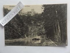 Lützelburg Im Elsass, Canal U. Ruine, Lastkahn, 1910 - Elsass