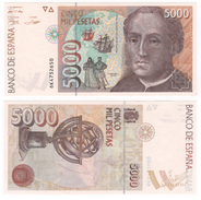 Spain, 5000 Pesetas 1992. UNC. - [ 4] 1975-… : Juan Carlos I