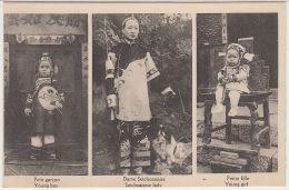 28284g   CHINE - CHINA - Dame Setchoanaise - Setchoanese Lady - Young Girl - Young Boy - Chine