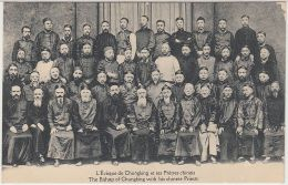 28285g  CHINE - CHINA -  L'Eveque De Chungking Et Ses Prêtres Chinois - The Bishop Of Chungking With His Chinese Priests - Chine