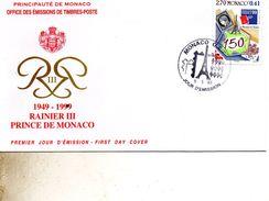 FDC MONACO   PHILATELIE  TIMBRE   N° YVERT ET TELLIER  220/7 199 - FDC