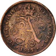 Belgique, Albert I, 2 Centimes, 1912, TTB, Cuivre, KM:65 - 1909-1934: Albert I