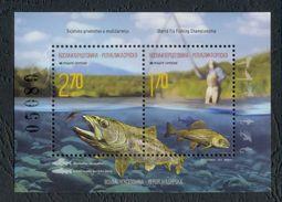 Bosnia Serbia 2015 World Fly Fishing Championship, Sports, Fauna, Fishes, Brown Trout, Grayling, Block MNH - Fishes