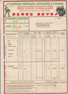 28257g AUDENAERDE  - FACTURE N°36097 - BRASSERIE ST ARNOLD - ST ARNOLDUS'BROUWERIJ - PETRE DEVOS à BRASSERIE DE PERONNES - Belgique