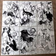 RARE LOT PUZZLE DE 6 CPM- LE SABBAT- CARTE INTERCHANGEABLES A VOLONTÉ- 2 SCANS - Humor