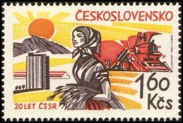 Czechoslovakia / Stamps (1965) 1443: 20th Anniversary Of Liberation Of Czechoslovakia (agricultur); Painter: J. Lukavsky - 2. Weltkrieg