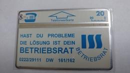 Austria-(p174)-ISS-betribsrat-(306l)-(20ein)-tirage-2000-+1card Prepiad Free - Autriche