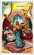 6 Cards Complete Litho Chromo Set C1900 PUB Crême LIEBIG CREME - German Text  - NATIONALTANZE Menuet Tyroler Russische - Liebig