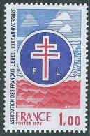 1976 FRANCIA FRANCESI LIBERI MNH ** - EDV7-3 - France