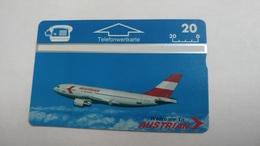 Austria-(p178)-AUA-airbus A310-324-(306l)-(50ein)-tirage-1.000-+1card Prepiad Free - Autriche