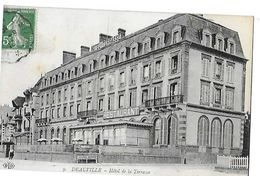 DEAUVILLE  HOTEL DE LA TERRASSE  GROS PLAN      DEPT 14 - Deauville