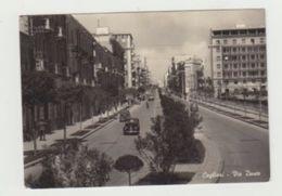 CAGLIARI - VIA DANTE - VIAGGIATA 1957 - FORMATO GRANDE CON AUTO D'EPOCA - POSTCARD - Cagliari