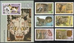 Cuba,  Michel 2017, # 5972-5978, B326,  Issued 2015,  Set Of 6 + S/S,  MNH,  Cat $ 10.00,  Cats - Cuba