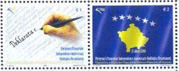 KOS 2009-125-6U 1ST YEAR INDEPENDENT, KOSOVO, 1 X 2v, MNH - Kosovo
