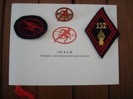 Lot Carte Et Insignes 152 Régiment Infanterie Motorisé  En Algérie - AFN - Losange Bras . - Other