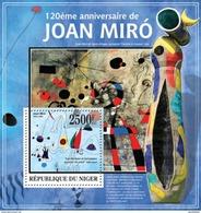 NIGER 2013 SHEET JOAN MIRO ART PAINTINGS ARTE PINTURAS Nig13325b - Niger (1960-...)
