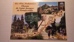 Sur Le Chemin De Saint Jacques De Compostelle.Via Podiensis.Le Puy ,Saugues,Estaing,Conques,St Jean Pied De Port, Burgos - Christianity