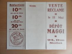 Buvards,buvard Dessin De G.Bouret Ab état(1 Volet Séparé Sur1/4_voir 1e Photo à Dte) - Alimentaire