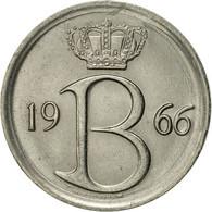 Belgique, 25 Centimes, 1966, Brussels, TTB+, Copper-nickel, KM:154.1 - 02. 25 Centimes