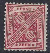 Germany (Wurttemberg) 1881 Dienst (*) MNG Mi.203a - Wurtemberg