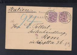 Dt. Reich GSK 1885 Wiesbaden Nach Rom - Briefe U. Dokumente
