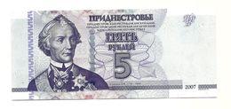 Transnistria - 5 Rubli 2007, - Banconote