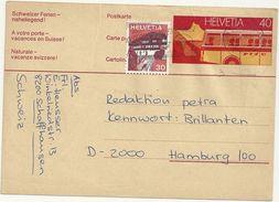 SCIAFFKAUSEN   X HAMBURG    --DIAMANTENFIEBER   SCRITTO  RETRO      CARTOLINA   VIAGGIATA - SH Schaffhouse