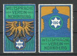 Reklamemarken Ca 1920 IDO - Sprachen