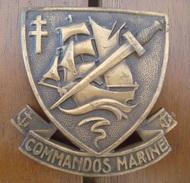 Badge Commandos Marine Dos Vaguelé   Indo -  Indochine. - Navy